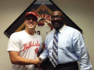 Chase McAnulty and NLBM President Bob Kendrick