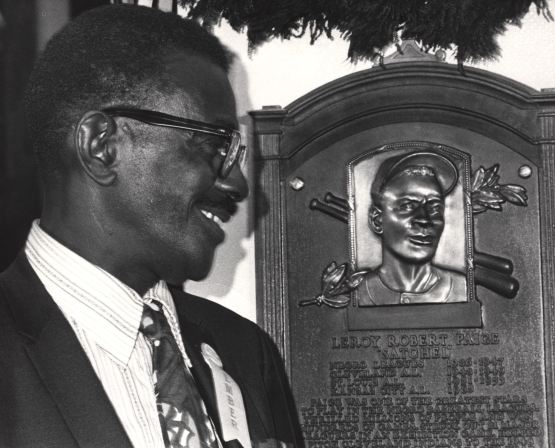 Satchel Paige at Hall of Fame induction