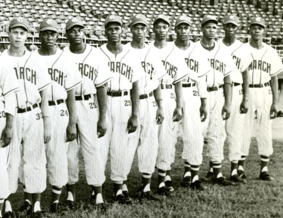 Buck O'Neil and Ernie Banks as part of the 1950 Kansas City Monarchs
